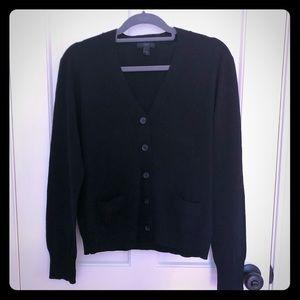 J. Crew Black Merino Wool Sweater with Pockets XL